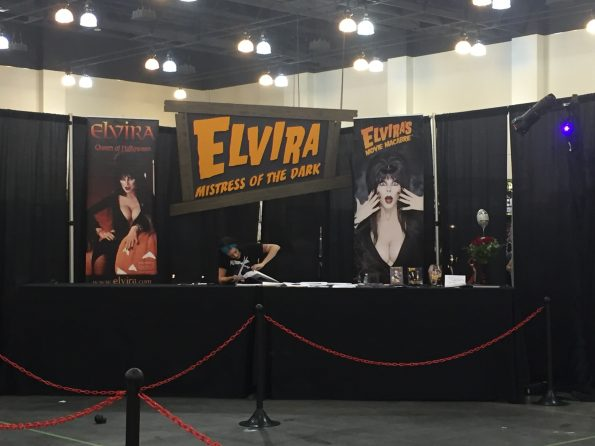 Elvira was the host for the event, and you could pay to have your picture taken with her!