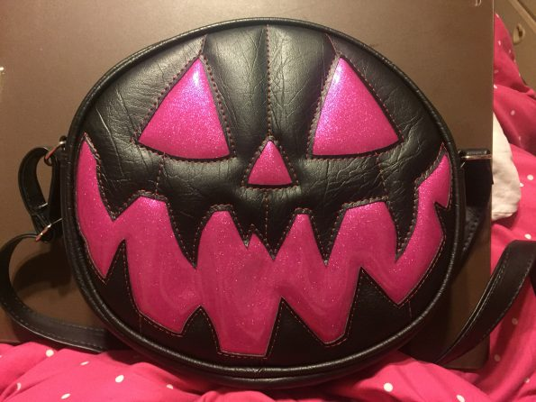 My awesome pink pumpkin purse from LovePainandStitches!