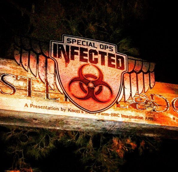 Entrance to Infected maze.